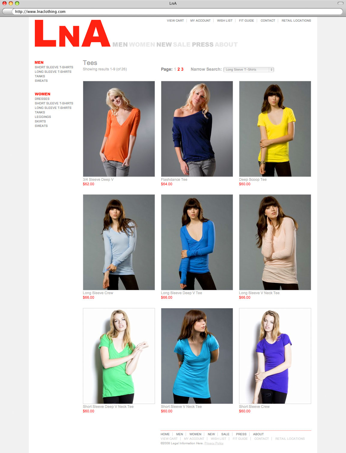 LnA Clothing - Category
