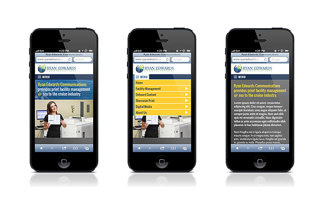 Ryan Edwards Communications - Mobile Design